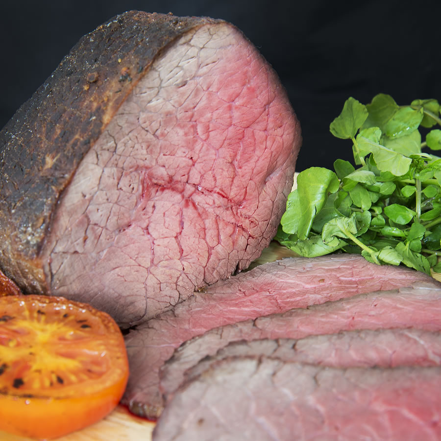 Rare Roasted Hampshire Beef